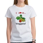 I Love Veggies Women's T-Shirt