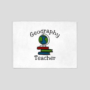 Geography Teacher 5'x7'Area Rug