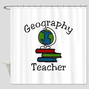 Geography Teacher Shower Curtain
