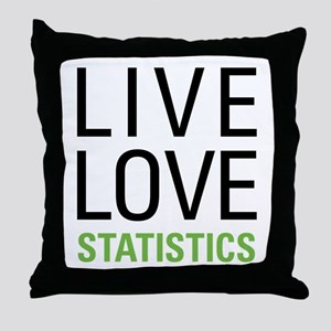 Statistics Throw Pillow