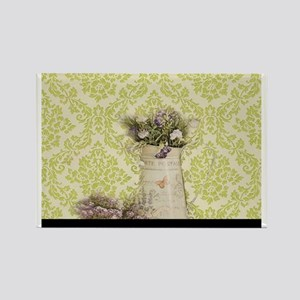 western country lavender damask Magnets