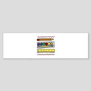 Art Supplies Bumper Sticker