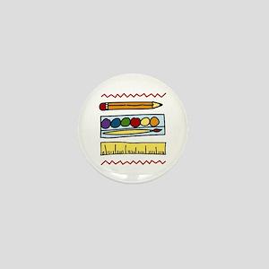 Art Supplies Mini Button