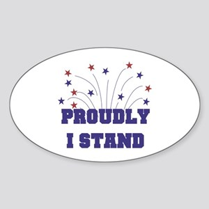 Proudly I Stand Sticker