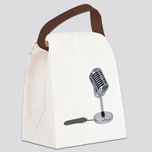 PillMicrophone042211 Canvas Lunch Bag