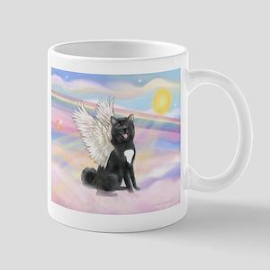 Black Akita Angel Mug
