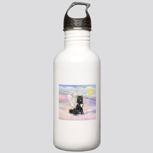 Black Akita Angel Stainless Water Bottle 1.0L