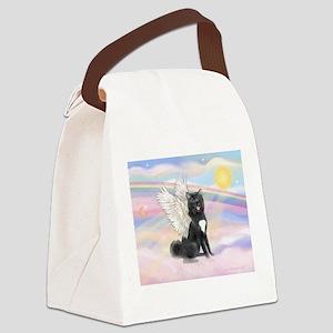 Black Akita Angel Canvas Lunch Bag