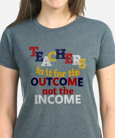 Teacher Slogan Women's Dark T-Shirt