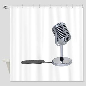 PillMicrophone042211 Shower Curtain