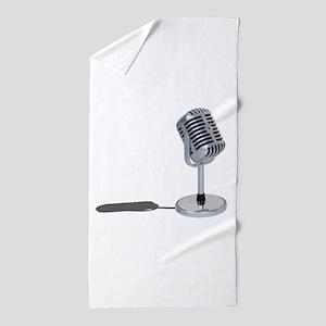 PillMicrophone042211 Beach Towel
