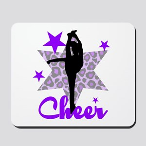 Purple Cheerleader Mousepad