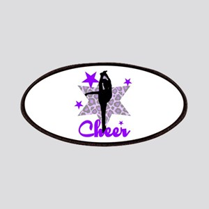 Purple Cheerleader Patches