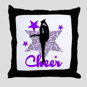 Purple Cheerleader Throw Pillow