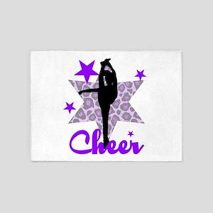 Purple Cheerleader 5'x7'Area Rug
