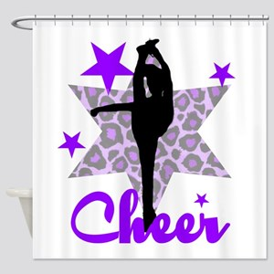 Purple Cheerleader Shower Curtain