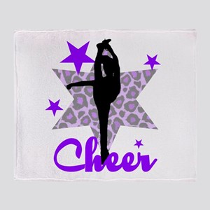 Purple Cheerleader Throw Blanket