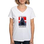 Holger Danske Vågner Women's V-Neck T-Shirt