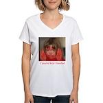 Caught Red Handed Women's V-Neck T-Shirt