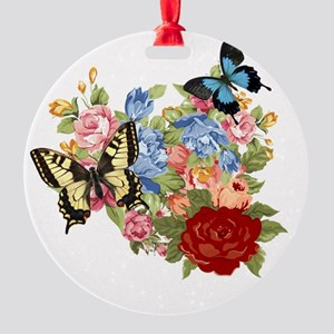 Butterfly Round Ornament