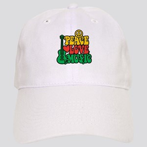 Reggae Peace Love Music Baseball Cap