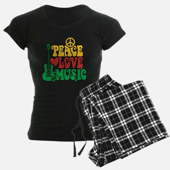 Reggae Peace Love Music Pajamas