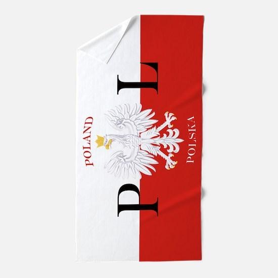 Polish Flag Poland Polska Beach Towel