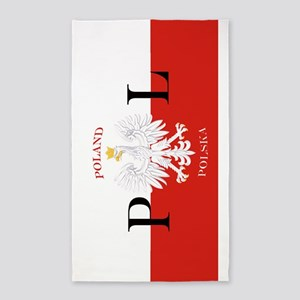 Polish Flag Poland Polska 3'x5' Area Rug