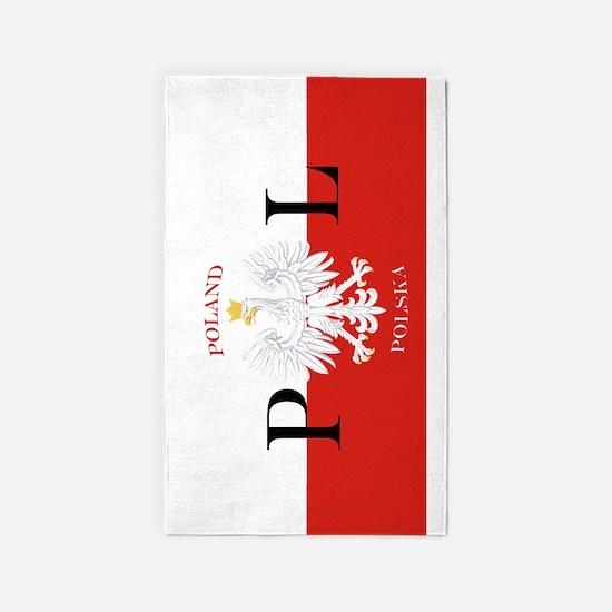 Polish Flag Poland Polska 3'x5' Area Rug