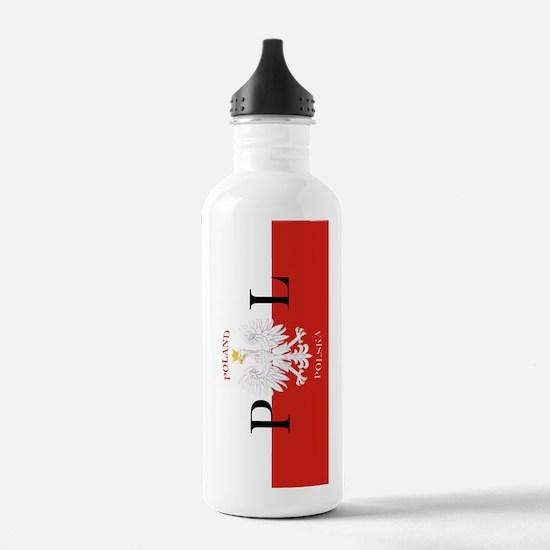 Polish Flag Poland Polska Water Bottle
