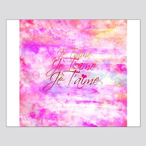 Je Taime, I Love You Pretty Pink French Typography