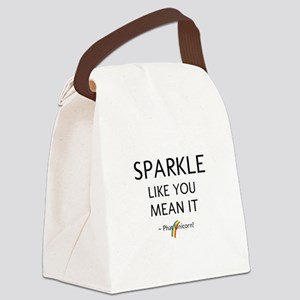 Sparkle Like You Mean It Canvas Lunch Bag