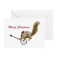 Merry Christmas Banjo Sq Greeting Cards (Pk of 20)