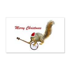 Merry Christmas Banjo Squirrel Wall Decal