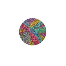 Cheerful Abstract Mini Button