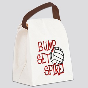 Bump, Set, Spike Canvas Lunch Bag