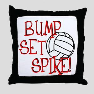 Bump, Set, Spike Throw Pillow
