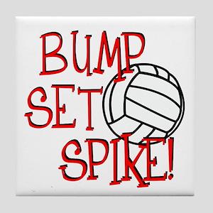 Bump, Set, Spike Tile Coaster