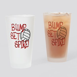 Bump, Set, Spike Drinking Glass