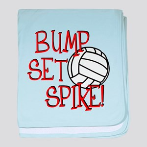 Bump, Set, Spike baby blanket