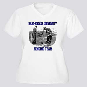 Fencing Team Women's Plus Size V-Neck T-Shirt