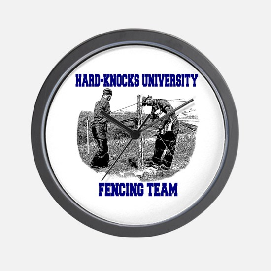 Fencing Team Wall Clock