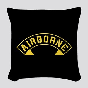 US Army Airborne Woven Throw Pillow