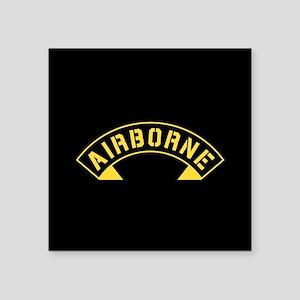 "US Army Airborne Square Sticker 3"" x 3"""