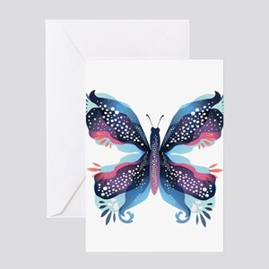 Abstract Butterfly Greeting Cards