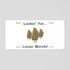 Loose Morels Aluminum License Plate
