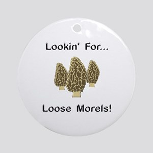 Loose Morels Ornament (Round)