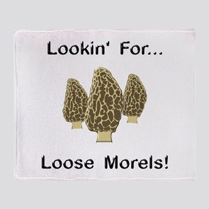 Loose Morels Throw Blanket