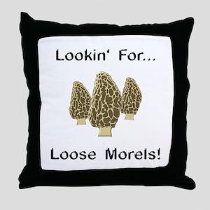 Loose Morels Throw Pillow