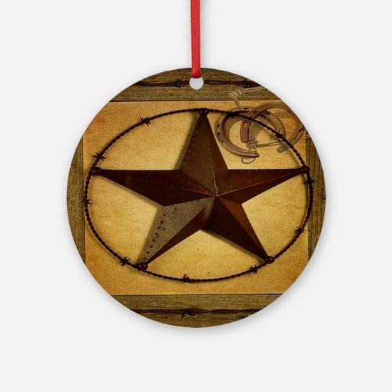barn wood texas star western fashion Ornament (Rou